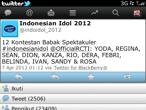 daftar nama 12 kontestan babak spektakuler indonesian idol 2012.jpg