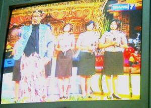 foto polwan cantik indonesia main ovj trans 7 bareng Sule dan Andre.jpg